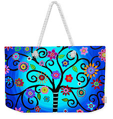 Weekender Tote Bag featuring the painting Moore's Tree Of Life by Pristine Cartera Turkus