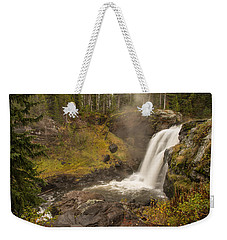 Weekender Tote Bag featuring the photograph Moose Falls by Gary Lengyel