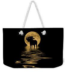 Moose In The Moonlight Weekender Tote Bag