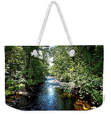 Weekender Tote Bag featuring the photograph Moose River At Covewood by David Patterson