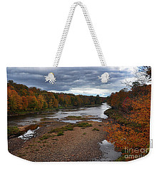 Weekender Tote Bag featuring the photograph Moose River Autumn by Diane E Berry