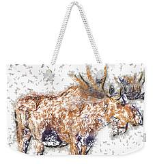 Moose-sticks Weekender Tote Bag by Elaine Ossipov