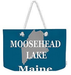 Weekender Tote Bag featuring the photograph Moosehead Lake Maine State Pride  by Keith Webber Jr
