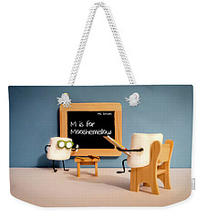 Weekender Tote Bag featuring the photograph Mooshemellow by Heather Applegate