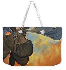 Moosying Along Weekender Tote Bag by Terri Einer