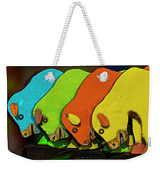 Weekender Tote Bag featuring the photograph Mooving On by Paul Wear
