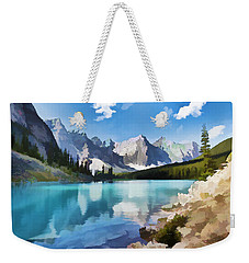Moraine Lake At Banff National Park Weekender Tote Bag