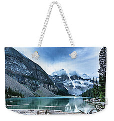 Moraine Lake Blues Weekender Tote Bag
