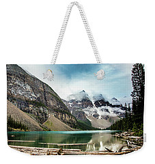 Moraine Lake In The Rain Weekender Tote Bag