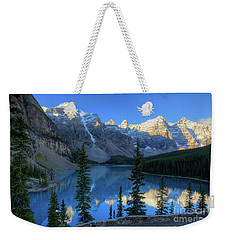 Moraine Lake Sunrise Blue Skies Weekender Tote Bag