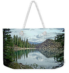 Moraine Lake Canadian Rockies Weekender Tote Bag by Lynn Bolt