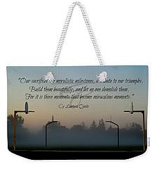 Moral Milestones Weekender Tote Bag