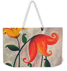 More Fun Flowers -b Weekender Tote Bag