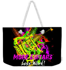Weekender Tote Bag featuring the photograph More Guitars  by Guitar Wacky