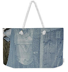 Weekender Tote Bag featuring the photograph More Peek-a-boo by Denise Fulmer
