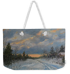 More Snow Tonight Weekender Tote Bag by Kathleen McDermott
