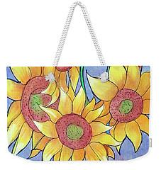 More Sunflowers Weekender Tote Bag by Loretta Nash