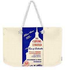 More Than Ever, The Capitol Limited Weekender Tote Bag