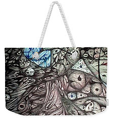 Weekender Tote Bag featuring the tapestry - textile More Vintage Ink by Jack Dillhunt