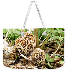 Morel Mushrooms Weekender Tote Bag by Angie Rea
