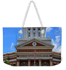 Weekender Tote Bag featuring the photograph Morgan County Court House by Doug Camara