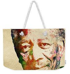 Morgan Freeman Weekender Tote Bag by Mihaela Pater