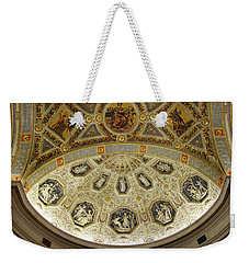 Weekender Tote Bag featuring the photograph Morgan Library Rotunda by Jessica Jenney