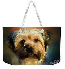 Morkie Portrait Weekender Tote Bag