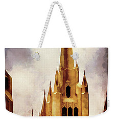 Mormon Temple Steeple Weekender Tote Bag by Joseph Hollingsworth
