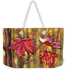 Morning After Autumn Rain Weekender Tote Bag