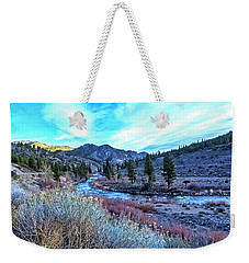 Morning Along The Truckee Weekender Tote Bag by Nancy Marie Ricketts