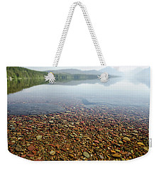 Weekender Tote Bag featuring the photograph Morning At Lake Mcdonald by Margaret Pitcher