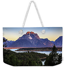 Morning At Mt. Moran Weekender Tote Bag