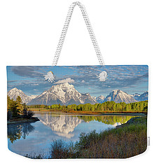 Morning At Oxbow Bend Weekender Tote Bag