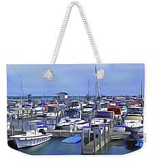 Morning At The Marina 1 Weekender Tote Bag