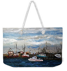Morning At The Wharf Weekender Tote Bag