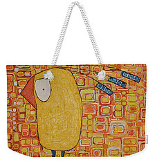 Weekender Tote Bag featuring the painting Morning Bird by Donna Howard