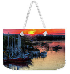Weekender Tote Bag featuring the photograph Morning Bliss by Maddalena McDonald