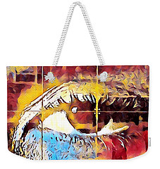 Morning Blues Weekender Tote Bag by Gina Callaghan