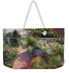 Morning Break In The Garden Weekender Tote Bag