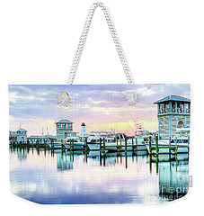 Weekender Tote Bag featuring the photograph Morning Calm by Maddalena McDonald