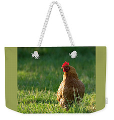 Morning Chicken Weekender Tote Bag