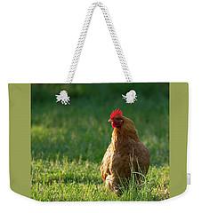 Morning Chicken Weekender Tote Bag