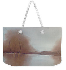 Weekender Tote Bag featuring the painting Morning Chill by Michelle Abrams