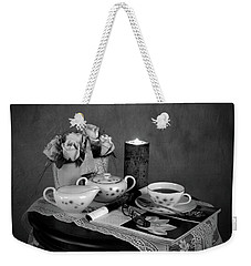 Morning Coffee And Reading Magazine Time Weekender Tote Bag