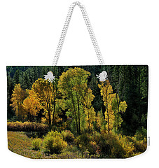 Morning Cottonwoods Weekender Tote Bag