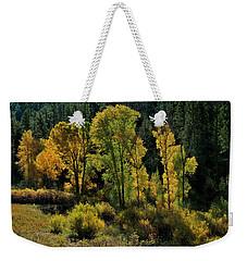 Morning Cottonwoods Weekender Tote Bag