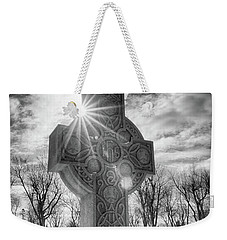 Weekender Tote Bag featuring the photograph Morning Cross by Guy Whiteley