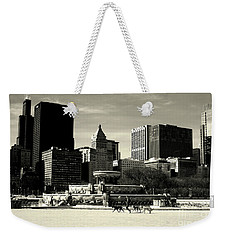 Morning Dog Walk - City Of Chicago Weekender Tote Bag