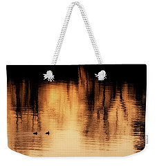 Weekender Tote Bag featuring the photograph Morning Ducks 2017 by Bill Wakeley